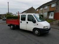 Citroen relay lwb 2004tipper crew cab 7seater low miles ,LONG MOT ,FIRST TO VIEW WILL BUY px welcome