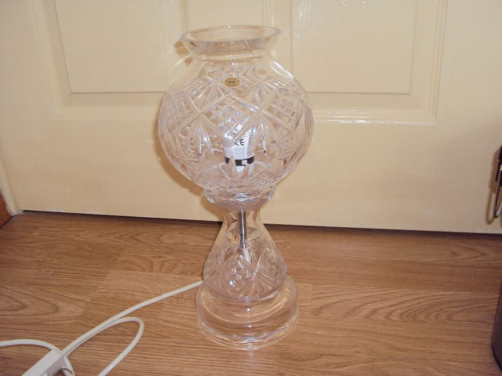 Tyrone Crystal Table Lamp For Sale