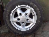 land rover alloy wheels tyres 265 x 70 x r15 few scuffs but nothing major