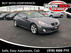 2010 Hyundai Genesis Coupe 3.8L V6, LOADED, ROOF, LEATHER.
