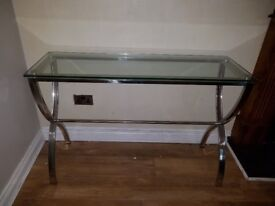 Console Table - Chrome and Glass