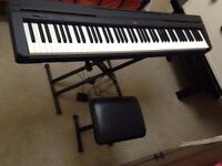 Yamaha P-45 Digital Piano and stand and stool in good condition