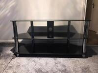Tv unit smoked glass immaculate