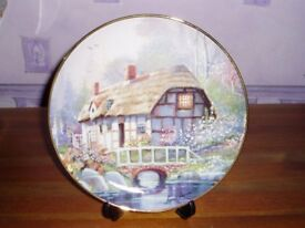 BRIDGEWATER COTTAGE PLATE WITH CERTIFICATE MINT CONDITION