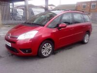 2008 CITROEN C4 PICASSO VTR PLUS HDI A 7 SEATER AUTOMATIC RED DAMAGED REPAIRABLE SALVAGE