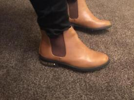 Brown leather river island size 5