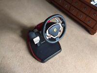Excellent Condition Thrustmaster Ferrari Wireless GT Cockpit 430 Scuderia Edition
