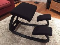 Kneeling Chair - Varier in black cloth - excellent condition