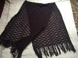 Ladies long scarf light weight used brown £3