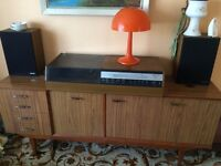 RETRO 70s SIDEBOARD WITH COCKTAIL CABINET