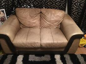 3+2+1 Leather sofas and footstool