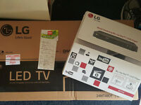 "24"" LG LED TV with aa LG blu-ray disc player 125"