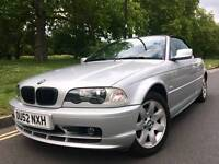 2002/52 REG BMW 318CI CONVERTIBLE ** 2 FORMER OWNER + 112,000 ONLY FULL SERVICE HISTORY ** £2295.00