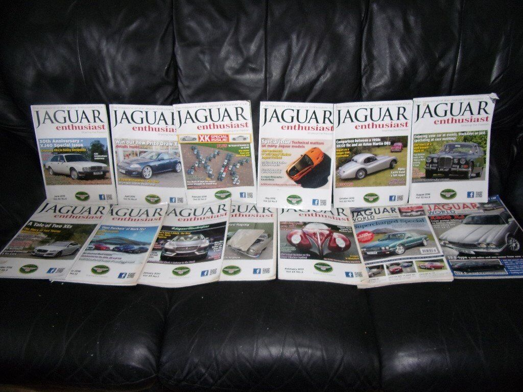 f50cca92c495 JAGUAR ENTHUSIAST MAGAZINES 13X. Shrewsbury