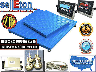 New Industrial Ntep 2 X 2 4 X 4 Floor Scale For Warehouse Pallet Weighing