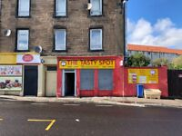Shop To Let Kirkcaldy - equipped for takeaway, cafe, food to go!