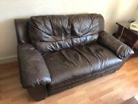 good condition 2 seater real leather argos sofas