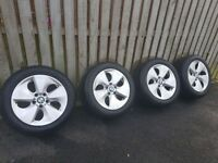 BMW 17'' genuine alloys wheels, tyres included