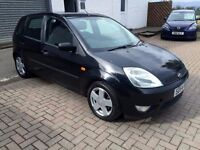 Bargain Trade Car to CLEAR 2004 54plate Ford Fiesta Zetec five door , 12 months mot, black