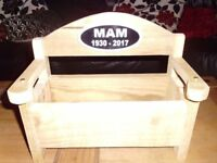 Handmade PersonalisedMemorial Planter Benches