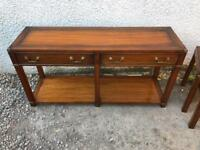 Brass bound mahogany sideboard * free furniture delivery *
