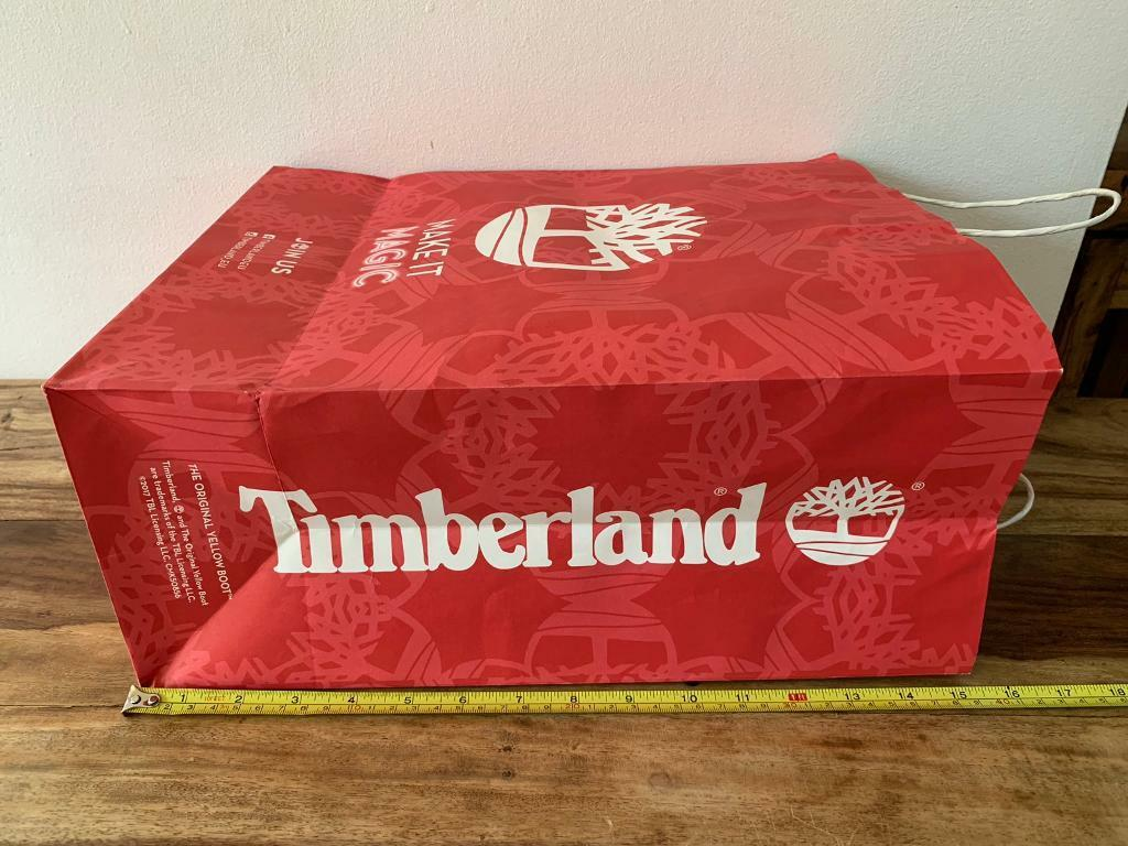 4b5f94f59fe timberland gift bag large paper bag red with white logo | in Hedge End ...