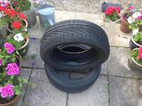 Part worn Tyres. With loads of tred left