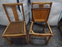 Vintage 2 drop seat chairs restoration shabby chic