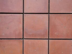 "NEW 6"" RED AGED VICTORIAN STYLE QUARRY TILES."