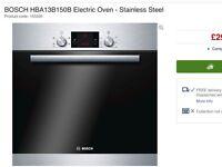New Bosch oven HBA63B251B