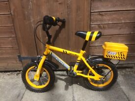 Toddlers builder themed bike