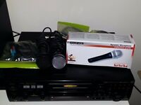 JVC karaoke with 800w amp speaker inc mics leads and 900 songs