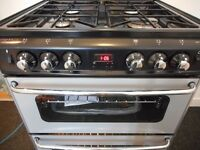 STOVES DOUBLE ALL GAS COOKER**BLACK**