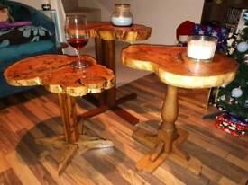 Bespoke handmade wooden tables(Set of 3)