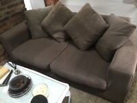 SOFA - with removable covers and matching scatter cushions