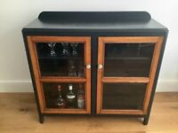 Drinks cabinet / Glass fronted cabinet / Bookcase