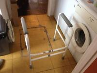 Toilet stand for OAP or disabled.