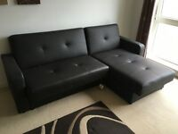 L Shape sofa bed with storage