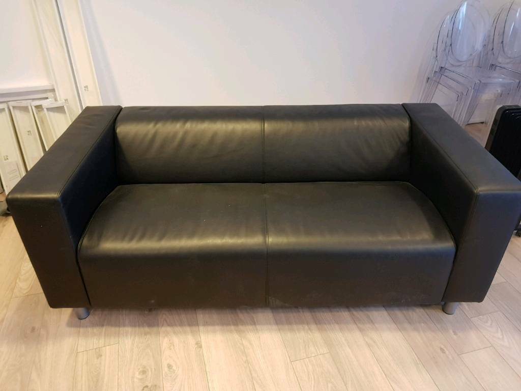 Ikea Klippan 2 Seat Sofa Compact Black Like New