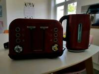 Morphy Richards Accents cordless kettle and 4 slice toaster set