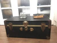 GENUINE VINTAGE TRUNK CHEST FREE DELIVERY LDN🇬🇧STORAGE BOX COFFEE TABLE