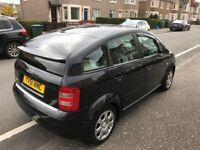 2002 (51) Audi A2 full years MOT black 5 door 1.4 petrol