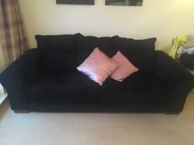 Large Black Michael Tyler Sofa in excellent condition