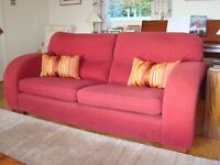 A comfortable 3 person sofa in good condition, a bargain at £25