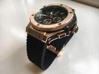 NEW ARMANI AX WATCH AUTOMATIC CHRONOGRAPH DIAMOND BEZEL ROSE GOLD