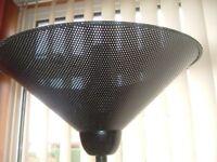Black uplighter lamp