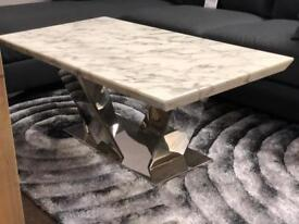 Ex-display**Lovely chrome and marble coffee table