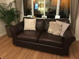 M & S Abbey Leather Sofas