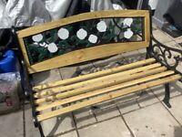 Garden bench fully refurbished