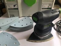 Festool DTS 400 EQ-PLUS Delta Sander 240v + 2 packs Sanding Pads